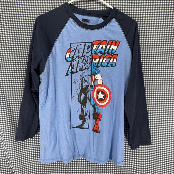 Marvel Comics Captain America Raglan T-Shirt Men's